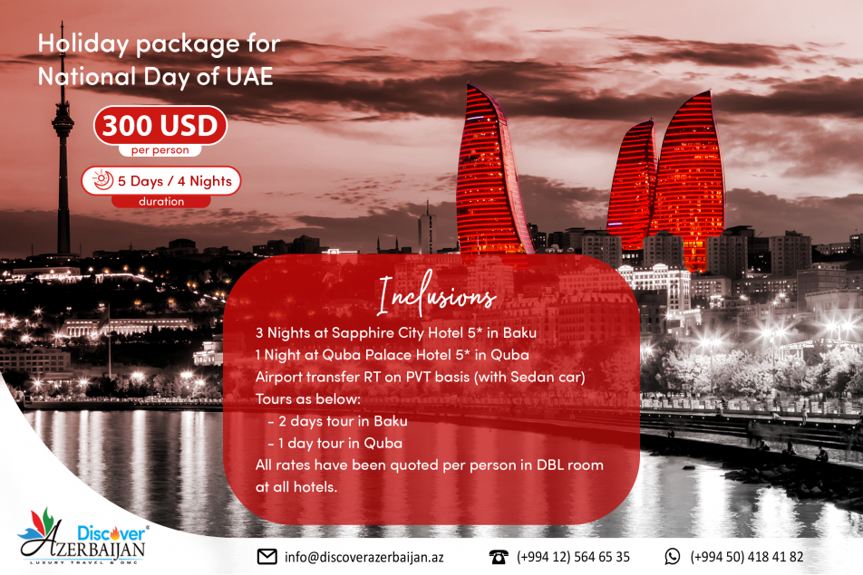 Holiday package for National Day of UAE